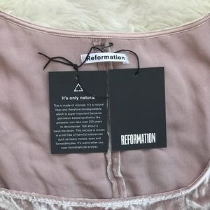 Reformation Tops - Reformation Velvet Pink May Top NWT